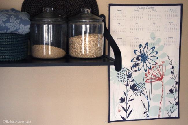 Tea Towel Calendar Wall Hanging | Radiant Home Studio