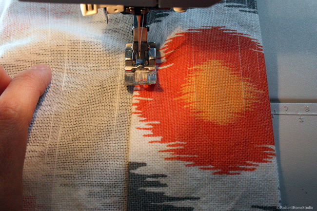 Sewing Curtain Hem | Radiant Home Studio