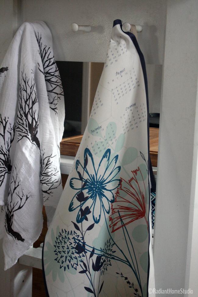 Finished Tea Towel Calendar | Radiant Home Studio