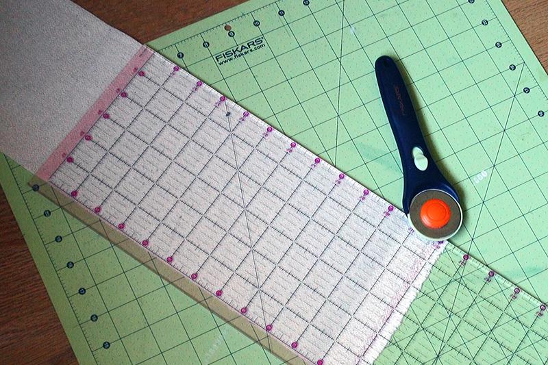 Cutting Fabric Tote Bag Straps | Radiant Home Studio