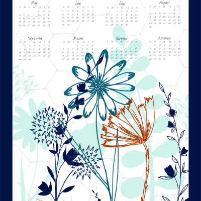 2014 Tea Towel Calendar | Radiant Home Studio