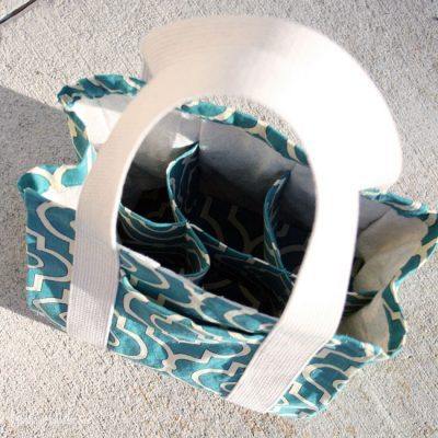 Divided Tote Bag   Water Bottle Tote   Radiant Home Studio