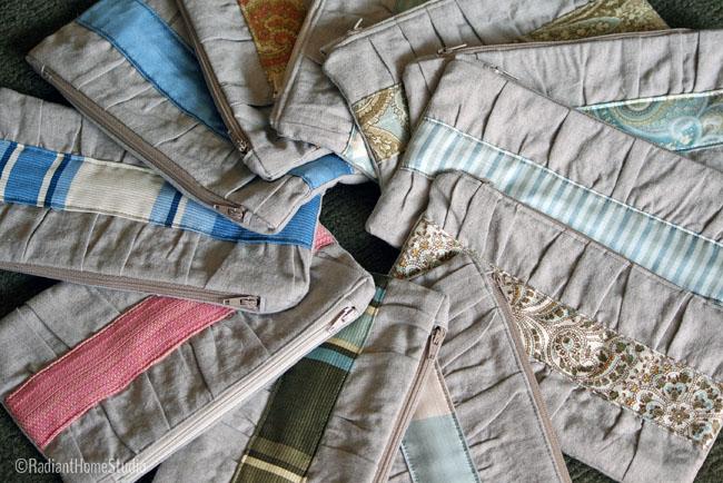 Noodlehead Gathered Clutch Linen | Radiant Home Studio