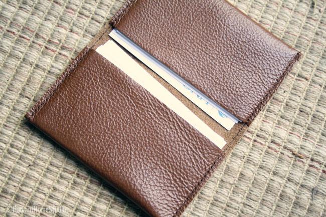 Leather Business Card Holder | Radiant Home Studio