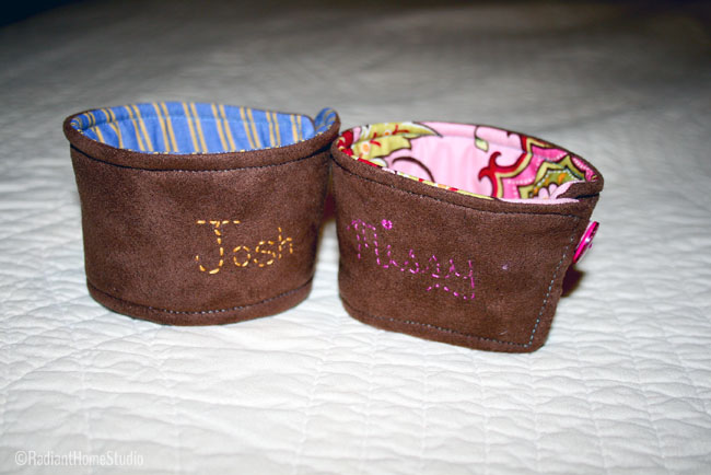 Embroidered Coffee Cup Sleeve | Radiant Home Studio