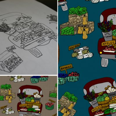 Sketch to Pattern | Far Trucks | Radiant Home Studio
