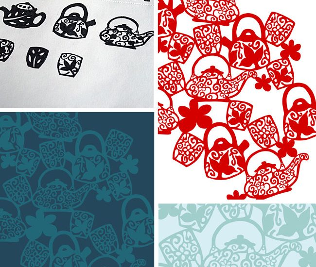 Sketchbook to Pattern {Chinese Tea}