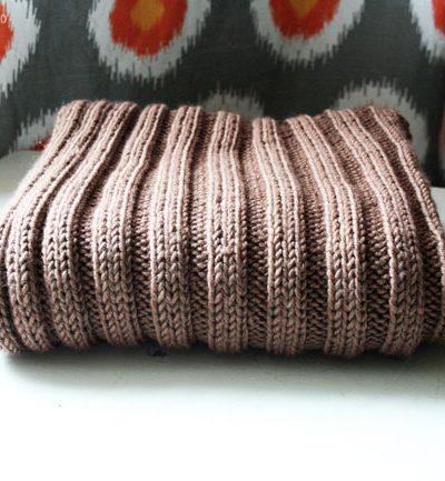 rib knit baby blanket | Radiant Home Studio
