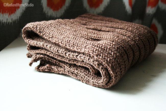 knitting a baby blanket | Radiant Home Studio
