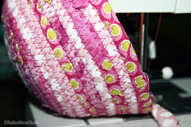 Sewing a Scrappy Fabric Bowl in Pink | Radiant Home Studio