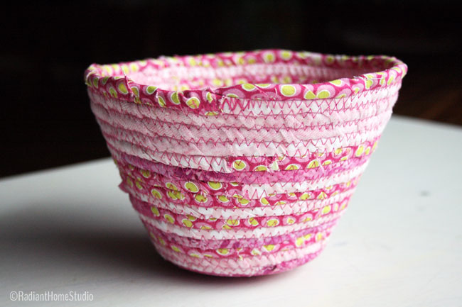 Pink (Valentine) Scrappy Fabric Bowl| Radiant Home Studio