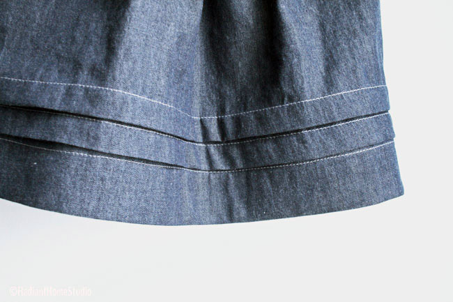 Paris Skirt Pleat Detail | Radiant Home Studio