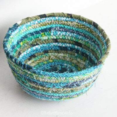 Coiled Fabric Scrap Basket | Radiant Home Studio