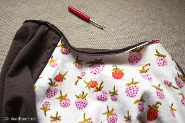 Sewed the neckband on backwards | Radiant Home Studio
