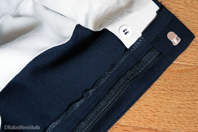 Vintage Trouser Fly Front | Radiant Home Studio