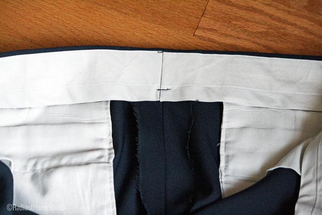 Vintage Trouser Waistband Details | Radiant Home Studio
