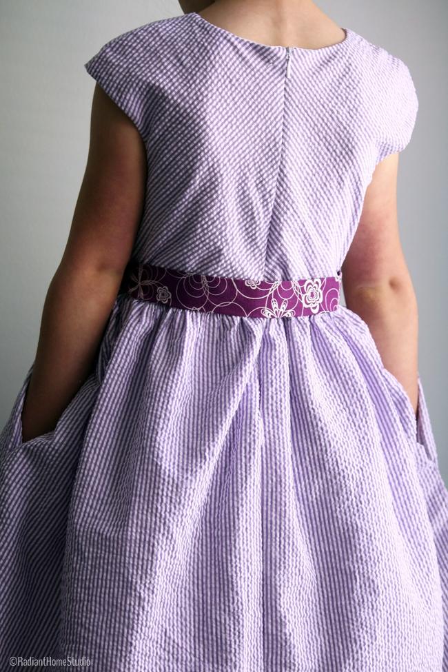 Caroline Party Dress Back   Radiant Home Studio