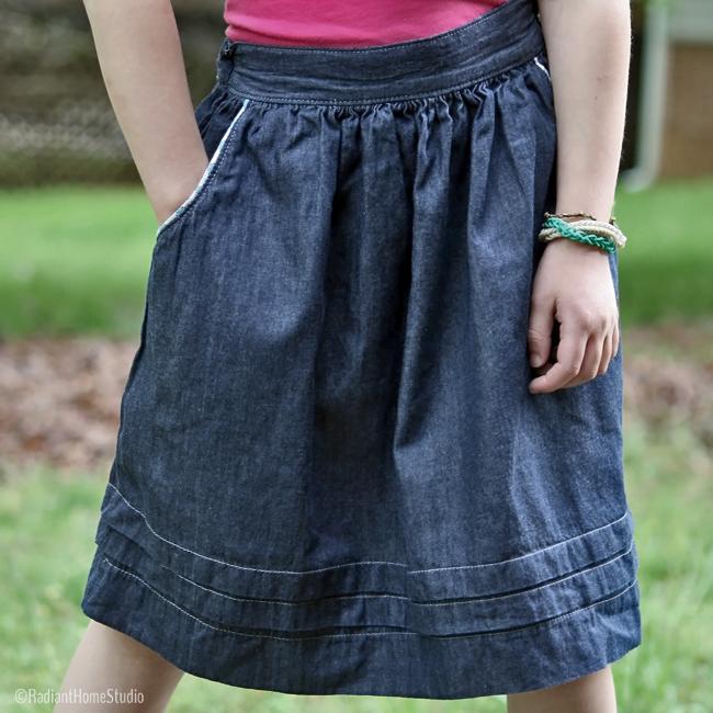 Skirt Pocket Tutorial and Pattern | Radiant Home Studio