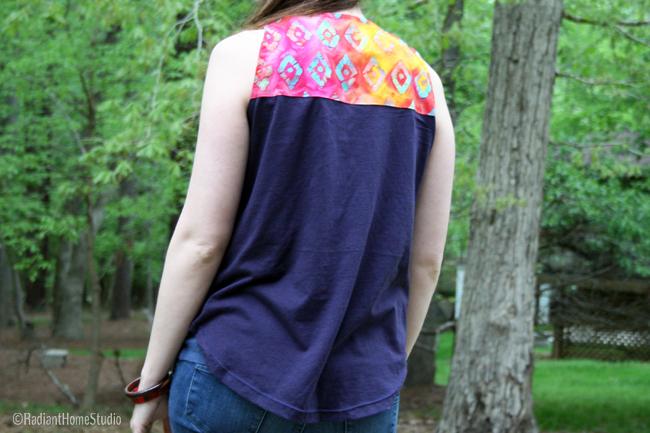 Jersey Knit Wiksten Tank Batik Back | Radiant Home Studi