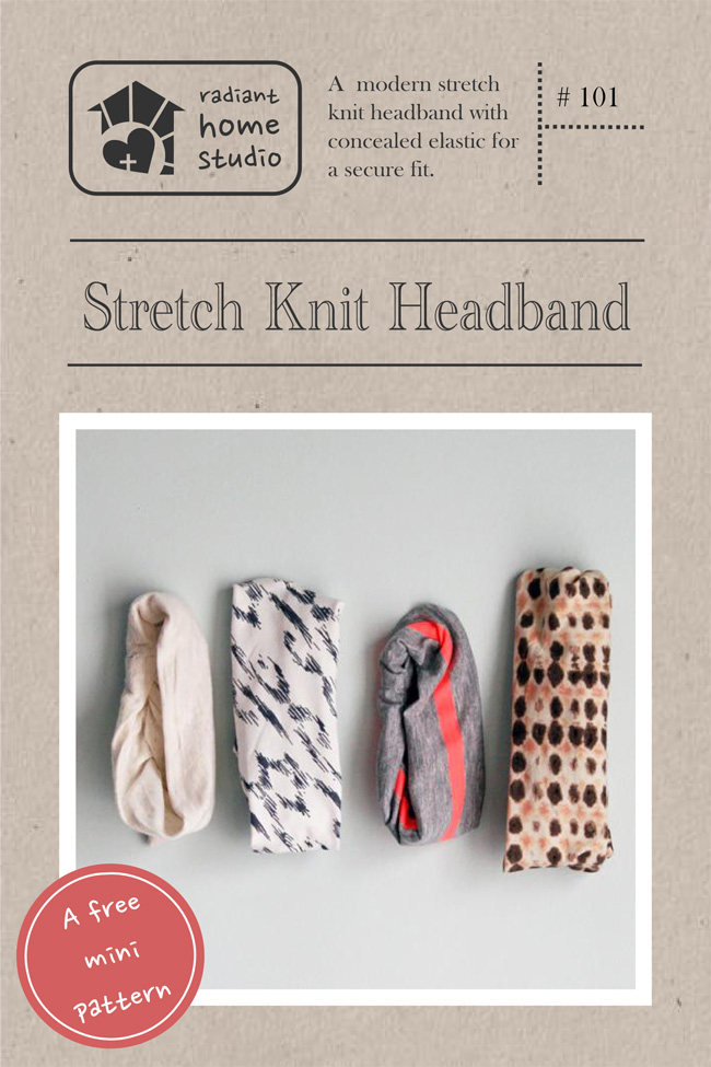 Free Stretch Knit Headband Pattern | Radiant Home Studio