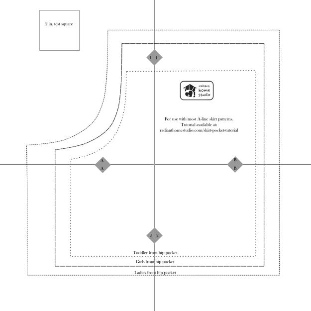 Skirt Pocket Pattern and Tutorial | Radiant Home Studio