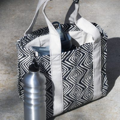 Tribal Water Bottle Tote | Radiant Home Studio