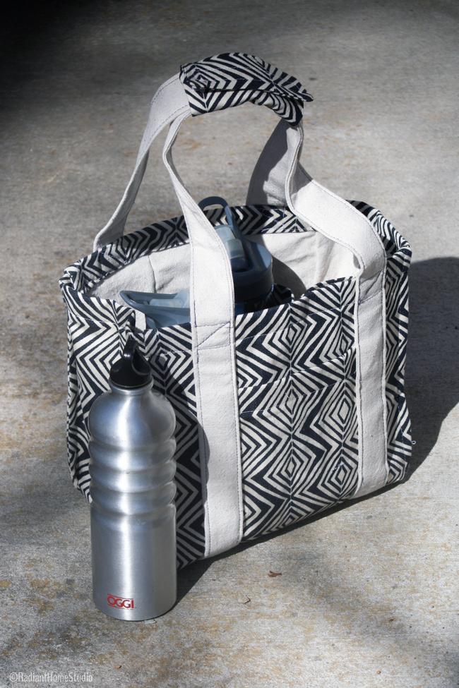 Tribal Water Bottle Tote | Radiant Home Studio