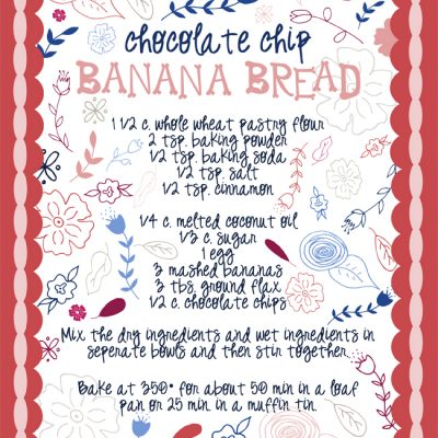 Chocolate Chip Banana Bread Tea Towel | Radiant Home Studio