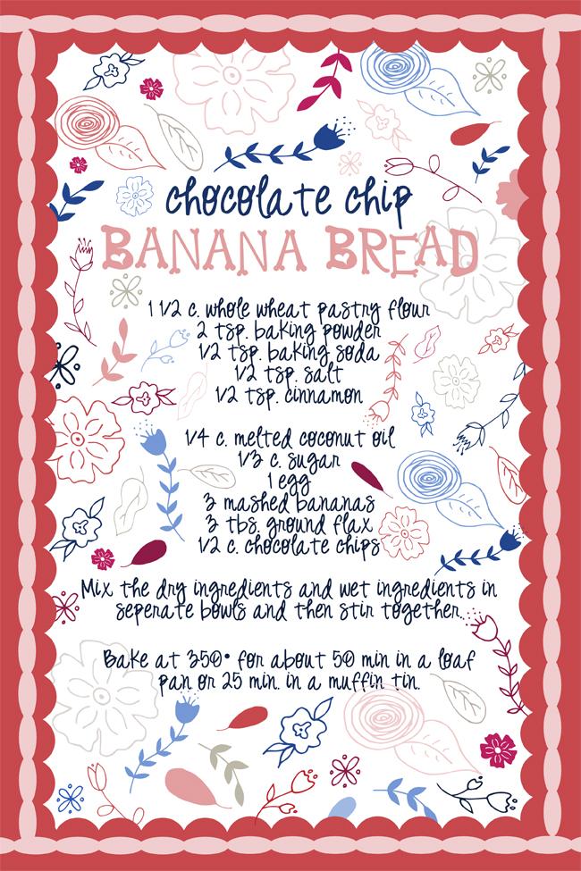 Chocolate Chip Banana Bread Tea Towel | Radiant Home Studio