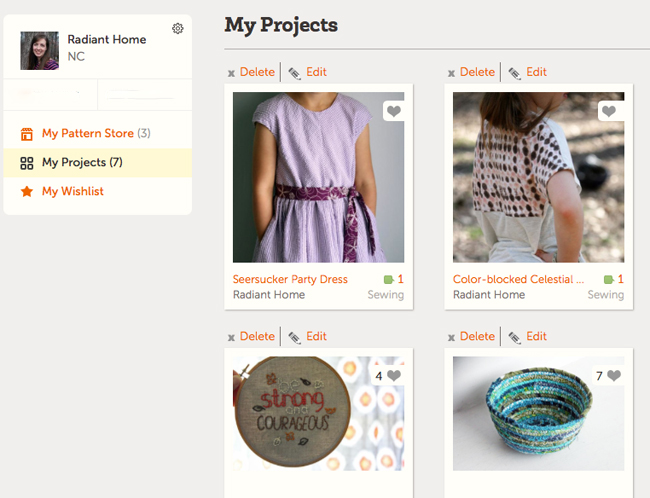 Share your Sewing Projects at Craftsy   Radiant Home Studio