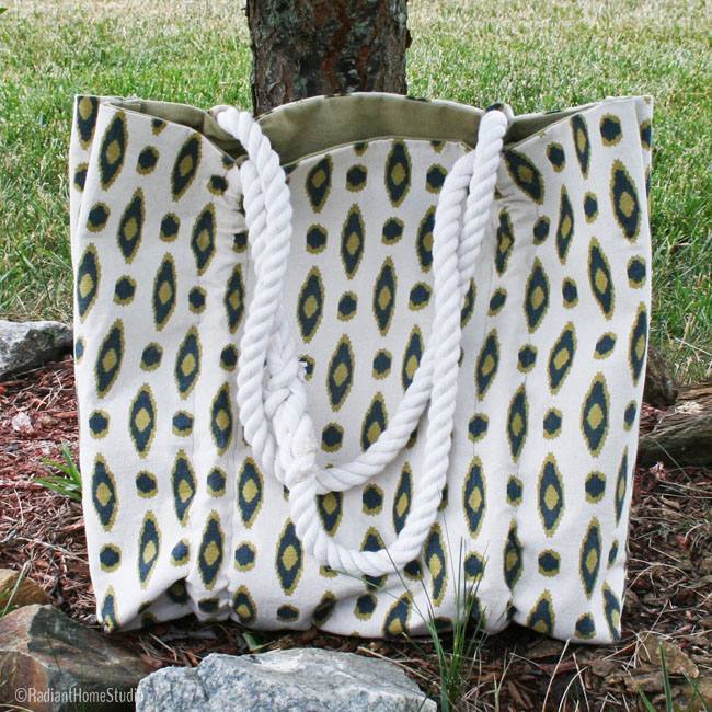 Coastal Tote Sewing Pattern | Radiant Home Studio