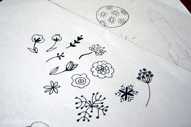 Sketchbook Flowers | Cosmis Voyage | Radiant Home Studio