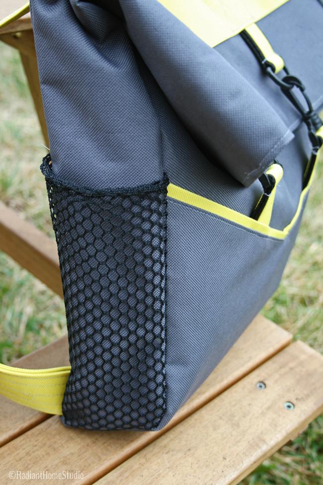 Side Mesh Pocket Retro Rucksack   Radiant Home Studio