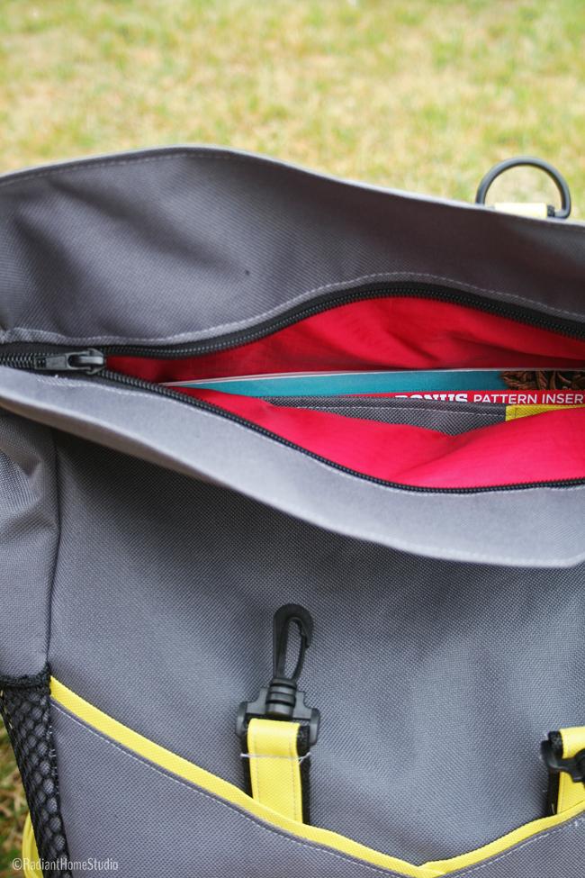 ZipperTop and Red Lining   Retro Rucksack   Radiant Home Studio
