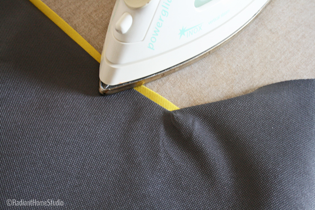 Sew and Press Flat Piping | Radiant Home Studio