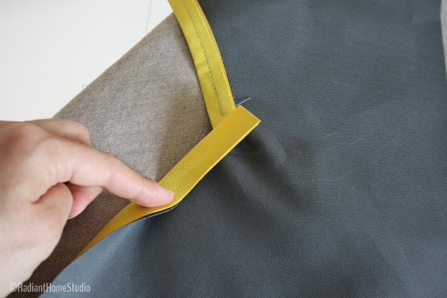 Sew Flat Piping on Inside Corner | Radiant Home Studio