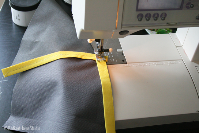 Sew Flat Piping on Inside Seam | Radiant Home Studio