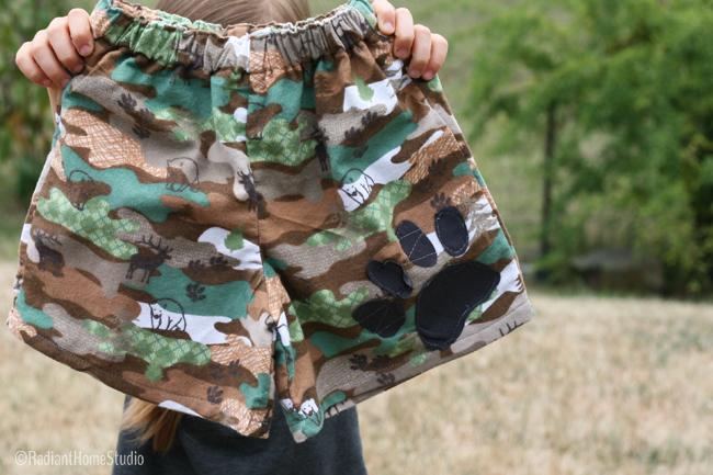 Appliquéd Pajama Shorts for Kids Clothes Week | Radiant Home Studio