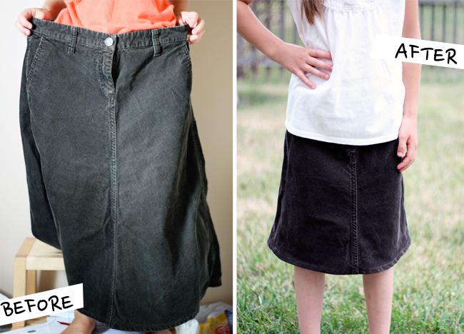Corduroy Skirt Refashion | Radiant Home Studio