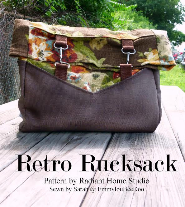 Retro Rucksack Inspiration | Sarah @ EmmyLoubeedoo | Radiant Home Studio