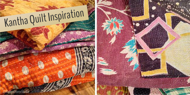 Kantha Quilt Inspiration | Radiant Home Studio