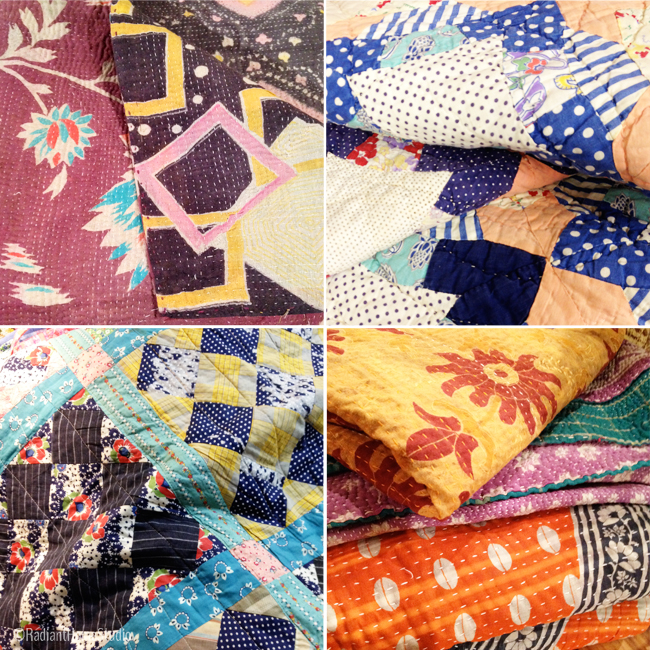 Vintage Textile Collage | Radiant Home Studio