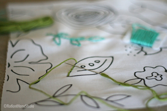 Embroider Over a Fabric Design | Radiant Home Studio