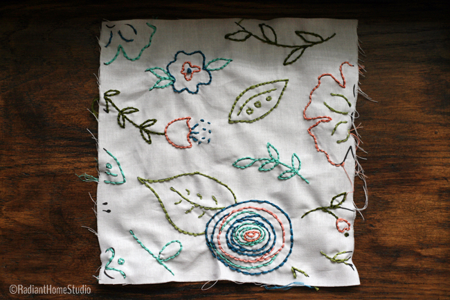 Embroidered Spoonflower Fabric Design | Radiant Home Studio