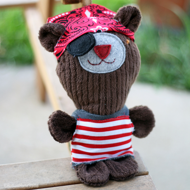 Pete The Pirate Bear | Radiant Home Studio