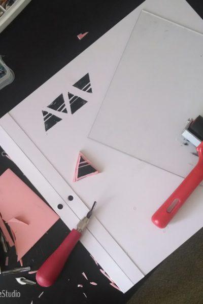 Triangle Block Print | MIID Summer School | Radiant Home Studio