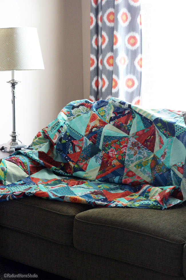 Tessellation Quilt Top | Triangle Quilt | Radiant Home Studio