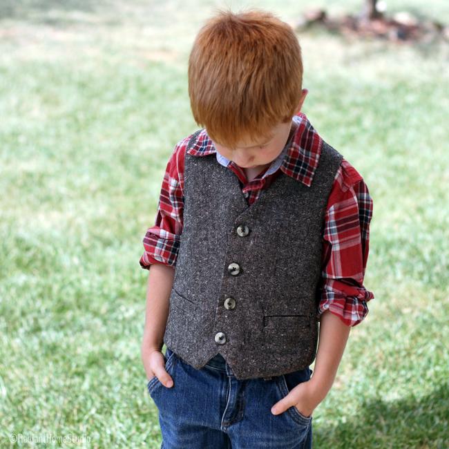 Schoolboy Vest | Radiant Home Studio