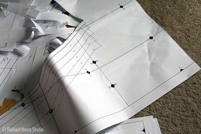 Wasted Paper from Myrtle Dress Pattern | Radiant Home Studio