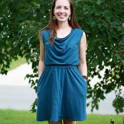 Teal Colette Myrtle Dress | Radiant Home Studio
